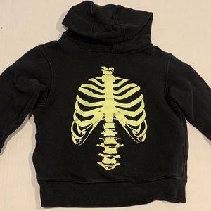 EUC Gymboree Skeleton Hoodie - Boy XS